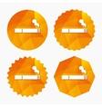 Smoking sign icon Cigarette symbol vector image vector image