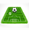 Soccer field perspective view realistic grass vector image