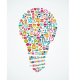 Social media icons isolated idea light bulb EPS10 vector image vector image