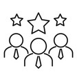 star team collaboration icon outline style vector image vector image