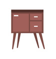 table drawer furniture interior decoration design vector image