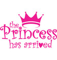 the princess has arrived label vector image