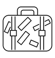 Travel suitcase icon outline style vector image vector image