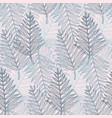 trendy tender colors tropical leaves pattern vector image vector image