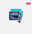 two color icon from business concept isolated vector image
