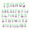 two tone color doodle font vector image