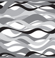 wave seamless pattern black and white background vector image