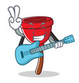 with guitar plunger character cartoon style vector image vector image