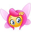 fairy emoticon vector image
