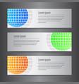 set of design world banner template vector image