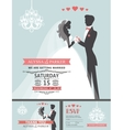 Wedding invitation with cartoon bridegroom vector image