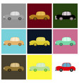set of icon in a flat style car vector image