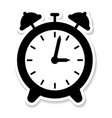 a black alarm clock icon vector image