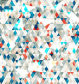 abstract blue glass triangles seamless with grunge vector image