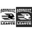american football black and white print vector image vector image