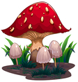 An image of a huge mushroom vector image vector image