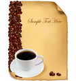 background menu with cup coffee vector image