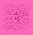 background with pink heart vector image vector image