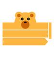 bear headband vector image