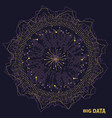 big data visualization fractal elements with vector image