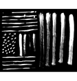 Brush set and textures on a black background
