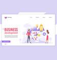 business development flat landing page vector image