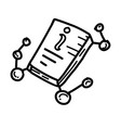 Business information hand drawn icon design