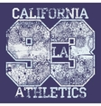California T-shirt fashion Typography vector image vector image