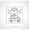 Car delivery flat line icon vector image