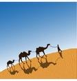 Caravan with camels vector image vector image