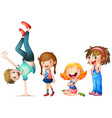 children characters on white background vector image vector image
