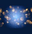 christmas bokeh lights background vector image vector image