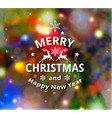 christmas colorful blurred shining background vector image
