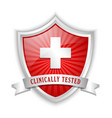 clinically tested vector image