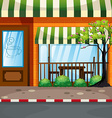 Coffee shop on the street vector image vector image