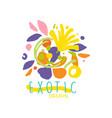 creative design for exotic flower shop logo vector image vector image