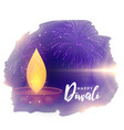 creative diwali festival greeting with diya and vector image vector image