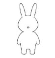cute and tender rabbit character vector image vector image