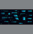 digital callouts titles in futuristic style hud vector image