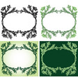 drawing decorative oval floral frame vector image vector image