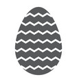 easter egg glyph icon decoration and easter vector image vector image