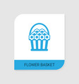 editable filled flower basket icon from valentines vector image vector image