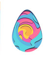 egg carving of paper with paint whirlpool and vector image vector image