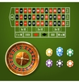 European Roulette Set vector image