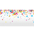 festive banner with colorful confetti vector image vector image