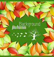 floral autumn beautiful poster vector image vector image