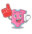 foam finger baby wool clothes isolated on mascot vector image vector image