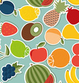 Fruit seamless pattern The image of fruits and vector image vector image