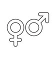 gender signs outline vector image