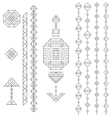 Geometric elements set vector image vector image